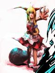 dain horns ibuki_suika long_hair oni red_eyes touhou