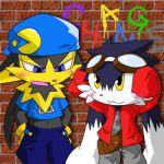 guntz klonoa klonoa_(cosplay) namco pacman shorts