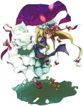 dain gap hair_ribbon hair_ribbons hat long_hair ribbon ribbons touhou yakumo_yukari