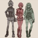 3girls girls_und_panzer multiple_girls ree_(re-19) tagme
