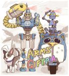 arms_(game) barq boxing_gloves byte dog gonzarez looking_at_viewer mask robot