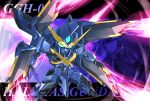 aqua_eyes beam_cannon character_name energy_beam glowing glowing_eyes gundam halphas_gundam mecha memento_vivi no_humans sd_gundam_g-generation zoom_layer