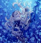 1girl female_my_unit_(fire_emblem_if) fire_emblem fire_emblem_if hiyori_(rindou66) long_hair my_unit_(fire_emblem_if) pointy_ears red_eyes solo underwater white_hair