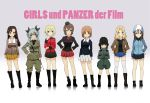 6+girls anchovy ankle_boots anzio_military_uniform asymmetrical_bangs bangs belt black_boots black_jacket black_necktie black_ribbon black_shirt black_skirt blonde_hair blue_boots blue_eyes blue_hat blue_jacket blue_shorts blue_skirt boots braid brown_eyes brown_hair brown_jacket chi-hatan_military_uniform closed_mouth copyright_name crossed_arms darjeeling denim denim_shorts dress_shirt drill_hair emblem english fang garrison_cap ghost_in_the_shell_lineup girls_und_panzer green_hair green_jumpsuit green_shirt grey_jacket grey_pants hair_intakes hair_ribbon hand_on_hip hand_on_own_chin hands_in_pockets hands_on_hips hat helmet highres holding jacket katyusha kay_(girls_und_panzer) keizoku_military_uniform knee_boots kuro293939_(rasberry) kuromorimine_military_uniform light_smile long_hair long_sleeves looking_at_viewer mika_(girls_und_panzer) military military_uniform miniskirt multiple_girls necktie nishi_kinuyo nishizumi_maho nishizumi_miho ooarai_military_uniform open_clothes open_jacket pants parted_lips pleated_skirt pravda_military_uniform raglan_sleeves red_eyes red_jacket red_shirt red_skirt ribbon riding_crop saunders_military_uniform shirt short_hair short_jumpsuit short_shorts shorts shoulder_belt skirt smile st._gloriana's_military_uniform standing star thigh-highs tied_hair track_jacket trait_connection twin_braids twin_drills twintails uniform white_legwear white_shirt white_skirt yellow_skirt