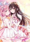 koharu_(norn9) kuga_mikoto norn9 pink_eyes pink_hair ★suzu