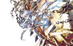 1girl akilico blazblue chains nu-13 red_eyes solo white_hair