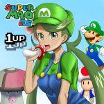 amoonguss graphite_(medium) highres luigi mao_(pokemon) mario_(series) mushroom pokemon pokemon_(game) pokemon_sm super_mario_bros. toad traditional_media