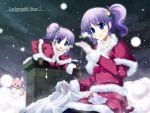 christmas dj_max_portable kazumasa ladymade_star original pantyhose purple_hair seha siblings snow twins