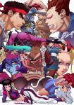 5boys 6+girls animal_print bat_print battle beret blue_eyes blue_hair blue_skin bracelet brown_legwear cammy_white capcom cre.o.n crossover dark_skin demitri_maximoff faceoff felicia flexible gouki grin han_juri hat jewelry lei_lei lying morrigan_aensland multiple_boys multiple_girls muscle no_pupils on_side pantyhose print_legwear purple_legwear red_eyes ryuu_(street_fighter) sagat scar shirtless smile spiked_bracelet spikes standing standing_on_one_leg street_fighter street_fighter_iv_(series) street_fighter_vs._darkstalkers tagme thick_eyebrows two-tone_skin upside-down vampire vampire_(game) victor_von_gerdenheim yellow_eyes