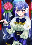 blue_hair european_clothes fire_emblem fire_emblem_echoes:_mou_hitori_no_eiyuuou fire_emblem_gaiden fur_coat hand_holding hio141 holding linea_(fire_emblem) smile violet_eyes