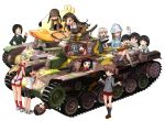 >_< 6+girls aki_(girls_und_panzer) alisa_(girls_und_panzer) anger_vein angry arm_up armband asymmetrical_bangs bangs bird black_hair black_jacket black_neckerchief black_necktie blazer blonde_hair blouse blue_shirt blue_shoes braid brown_eyes brown_hair brown_jacket brown_shoes camouflage chi-hatan_(emblem) chi-hatan_military_uniform chouno_ami closed_eyes closed_mouth dress_shirt duck emblem fukuda_(girls_und_panzer) garrison_cap girls_und_panzer glasses gotou_moyoko green_jacket green_shirt grey_jacket grey_legwear grey_skirt grimace grin ground_vehicle hair_ornament hair_pulled_back hair_rings hairband hat helmet holding holding_instrument hosomi_(girls_und_panzer) instrument isobe_noriko jacket japan_ground_self-defense_force kantele katahira_masashi keizoku_school_uniform kneehighs konparu_nozomi kuromorimine_military_uniform legs_crossed light_brown_hair loafers long_hair long_sleeves looking_at_another lying mika_(girls_und_panzer) military military_uniform military_vehicle miniskirt motor_vehicle multiple_girls neckerchief necktie nishi_kinuyo nishizumi_maho on_back ooarai_school_uniform open_mouth pleated_skirt ponytail red_legwear red_shirt red_shorts red_skirt round_glasses sasaki_akebi saunders_school_uniform school_uniform serafuku shirt shoes short_hair short_shorts short_twintails shorts sigh simple_background skirt sleeveless sleeveless_shirt smile sneakers socks sono_midoriko sportswear standing star star_hair_ornament striped striped_shirt swept_bangs tank teramoto_(girls_und_panzer) thumbs_up twin_braids twintails type_95_ha-gou type_97_chi-ha uniform vertical-striped_shirt vertical_stripes volleyball_uniform white_background white_blouse white_hairband white_shirt white_shoes x-ray yellow_skirt