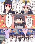 6+girls :d animal_ears antlers black_hair blonde_hair blue_eyes blue_hair bucket_hat chibi closed_eyes comic crossed_arms emperor_penguin_(kemono_friends) eyebrows_visible_through_hair fur_collar gentoo_penguin_(kemono_friends) hair_between_eyes hair_over_one_eye hat headphones hood hoodie humboldt_penguin_(kemono_friends) jacket kaban_(kemono_friends) kemomix kemono_friends leotard long_hair long_sleeves looking_at_another moose_(kemono_friends) moose_ears multicolored_hair multiple_girls music musical_note open_clothes open_jacket open_mouth penguins_performance_project_(kemono_friends) pink_hair quaver red_eyes redhead rockhopper_penguin_(kemono_friends) royal_penguin_(kemono_friends) short_hair singing skirt smile stage standing sweat sweater sweating_profusely translation_request triangle_mouth tsurime two-tone_hair white_hair