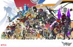 6+boys 6+girls alien animal character_request coran_(voltron) dark_skin drum everyone flag flying golion_(mecha) highres hunk_(voltron) hyakujuu-ou_golion instrument jacket keith_(voltron) lance_(voltron) logo matthew_holt mecha military military_uniform monster_boy monster_girl multiple_boys multiple_girls nyma_(voltron) official_art pidge_gunderson princess_allura running sendak_(voltron) shay_(voltron) size_difference space_craft takashi_shirogane uniform voltron:_legendary_defender walking watermark zarkon_(voltron)