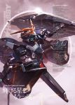 absurdres advance_of_zeta advance_of_zeta_re-boot artist_name copyright_name gundam highres kenki_fujioka mecha no_humans official_art planet text tr-6_woundwort translation_request watermark