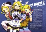 :q ;d absurdres blonde_hair blue_eyes blue_legwear blush bow bowtie character_name dress elbow_gloves gloves green_eyes green_hairband green_skirt hair_ornament hair_ribbon highres index_finger_raised kagamine_rin kurashima_tomoyasu miniskirt one_eye_closed open_mouth panda_hood pantyhose red_bow red_bowtie ribbon shiny shiny_clothes shirt short_hair short_sleeves skirt sleeveless sleeveless_dress smile star striped striped_legwear striped_shirt thigh-highs tongue tongue_out vertical-striped_shirt vertical-striped_skirt vertical_stripes vocaloid white_ribbon yellow_shirt