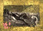 2boys announcement_celebration artist_name atom:_the_beginning big_nose blinds closed_eyes father's_day labcoat long_sleeves ma_ko_to male_focus multiple_boys ochanomizu_hiroshi open_collar pointy_hair short_hair sleeping tenma_umatarou tetsuwan_atom