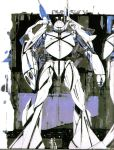 gundam hangar mecha official_art pilot pilot_suit production_art scan size_difference syd_mead traditional_media turn_a_gundam turn_x