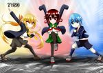 10s 3girls absurdres commentary_request highres kantai_collection minazuki_(kantai_collection) multiple_girls mutsuki_(kantai_collection) remodel_(kantai_collection) satsuki_(kantai_collection) suke_(share_koube) time