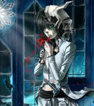 black_hair bleach butterfly emo espada flower male pale_skin petals skull sword ulquiorra_cifer ulquiorra_schiffer weapon white_skin window