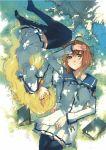 book dies_irae g_yuusuke marie_(dies_irae) school_uniform serafuku shade thigh-highs thighhighs zettai_ryouiki