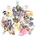absurdres animal beard bird blonde_hair blue_eyes blue_hair bodysuit bowser box braid brothers brown_hair bulbasaur cape captain_falcon cardboard_box charizard dark_skin diddy_kong donkey_kong donkey_kong_(series) dress dual_persona f-zero facial_hair fairy falchion_(fire_emblem) falco_lombardi fire fire_emblem fire_emblem:_akatsuki_no_megami fire_emblem:_monshou_no_nazo fire_emblem:_souen_no_kiseki fox fox_mccloud fox_tail furry ganondorf gloves hammer hat headband helmet highres ice_climber ike ivysaur jigglypuff kid_icarus kid_icarus_uprising king_dedede kirby kirby_(series) link long_hair lucario lucas luigi male_focus mario mario_(series) marth master_sword meta_knight metroid monkey mother_(game) mother_2 mother_3 multiple_boys multiple_girls mustache nana_(ice_climber) navi ness olimar pikachu pikmin_(creature) pikmin_(series) pit_(kid_icarus) pointy_ears pokemon pokemon_(creature) pokemon_(game) ponytail popo_(ice_climber) princess_peach princess_zelda r.o.b ragnell red_(pokemon) redhead robot samus_aran scarf sheik shield short_hair siblings smile solid_snake sonic sonic_the_hedgehog star_fox super_mario_bros. super_smash_bros. sword tail the_legend_of_zelda the_legend_of_zelda:_the_wind_waker the_legend_of_zelda:_twilight_princess toon_link varia_suit wario warioware weapon wings yoshi zero_suit