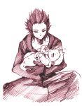 axel baby carry drawing kingdom_hearts lea roxas sleeping