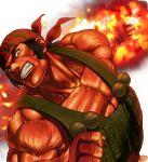 bandanna metal_slug metal_slug_attack official_art ralf_jones red_skin the_king_of_fighters