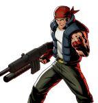 assault_rifle bandanna gloves gun metal_slug metal_slug_attack muscle official_art ralf_jones rifle tank_top the_king_of_fighters vest weapon