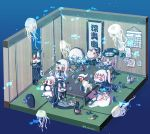 >_< 6+girls :d absurdly_long_hair abyssal_admiral_(kantai_collection) ahoge aircraft_carrier_oni battleship_hime battleship_water_oni beer_can black_dress black_hair blue_eyes blush braid calendar_(object) can cape chibi claws detached_sleeves dress drunk enemy_aircraft_(kantai_collection) gauntlets glasses hair_between_eyes hanging_scroll headgear headphones heavy_cruiser_hime hi_ye holding horn horns i-class_destroyer kantai_collection long_hair lying mittens multiple_girls northern_ocean_hime off-shoulder_dress off_shoulder one_side_up open_mouth power_fist red_eyes scroll seaport_hime shinkaisei-kan single_braid smile spaghetti_strap supply_depot_hime ta-class_battleship table tatami very_long_hair white_dress white_hair white_skin wo-class_aircraft_carrier xd