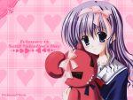 bear nanao_naru ribbons seifuku tagme valentine