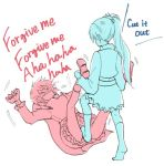 2girls anger_vein cape color_connection commentary_request english laughing long_hair multiple_girls nagasawa_(tthnhk) ponytail ruby_rose rwby tickle_torture tickling weiss_schnee