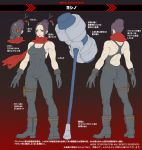 concept_art gas_mask hair_ornament hair_stick hammer metal_slug metal_slug_attack muscle muscular_female official_art red_scarf scarf skin_tight weapon yoshino_(metal_slug)