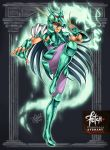 1boy 2015 80s arch armor black_hair boots claws dated deviantart_username dragon dragon_shiryuu energy fighting_stance fingerless_gloves franciscoetchart gloves greek helmet long_hair looking_at_viewer official_style oldschool pillar realistic saint_seiya shield signature very_long_hair