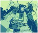 1boy 80s autobot camera cellphone cellphone_camera insignia jazz_(transformers) machine machinery mecha no_humans oden_(dofuko) oldschool personification phone robot self_shot smile solo taking_picture transformers