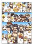 +++ 6+girls :3 akatsuki_(kantai_collection) amatsukaze_(kantai_collection) anchor_symbol animal_ears black_hair blonde_hair blue_eyes closed_eyes collar comic cookie cup dress eating elbow_gloves fake_animal_ears flat_cap flying_sweatdrops food food_in_mouth gloves gradient gradient_background green_eyes grey_hair hair_ornament hair_ribbon hair_tubes hairband hairclip hand_holding hands_on_lap haruna_(kantai_collection) hat headgear hibiki_(kantai_collection) holding holding_food horns i-class_destroyer ikazuchi_(kantai_collection) kantai_collection katsuragi_(kantai_collection) kneeling long_hair long_sleeves mini_hat multiple_girls neckerchief northern_ocean_hime open_mouth plate pleated_skirt ponytail rabbit_ears ribbon school_uniform serafuku sharing_food shimakaze_(kantai_collection) shinkaisei-kan short_hair short_sleeves sidelocks skirt sleeveless sleeveless_dress smile star star-shaped_pupils striped striped_legwear surprised symbol-shaped_pupils translation_request triangle_mouth twintails waving white_hair