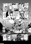 6+girls ahoge atago_(kantai_collection) black_hair comic commentary eyepatch greyscale hachimaki headband hiryuu_(kantai_collection) jintsuu_(kantai_collection) kantai_collection kiso_(kantai_collection) long_hair mizumoto_tadashi monochrome multiple_girls non-human_admiral_(kantai_collection) remodel_(kantai_collection) ri-class_heavy_cruiser ryuuhou_(kantai_collection) seaplane_tender_water_hime short_hair shouhou_(kantai_collection) side_ponytail souryuu_(kantai_collection) ta-class_battleship taigei_(kantai_collection) takao_(kantai_collection) translation_request twintails wo-class_aircraft_carrier