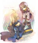 1girl blonde_hair blue_eyes brown_hair emil_castagnier flower fruit_punch marta_lualdi tales_of_(series) tales_of_symphonia tales_of_symphonia_knight_of_ratatosk you_gonna_get_raped
