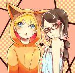 blue_eyes glasses hood hoodie naruto tagme uchiha_sarada uzumaki_boruto