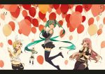 1boy 3girls artist_request balloon birthday hatsune_miku kagamine_len kagamine_rin megurine_luka multiple_girls vocaloid