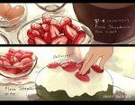 artist_name bowl cake english food fruit icing nadia_kim original plate strawberry