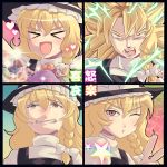 chart dragon_ball dragon_ball_z expressions kirisame_marisa lucky_star mushroom parody super_saiyan tears touhou v waya wink