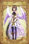 bare_shoulders blue_eyes boots coin dress elona goddess short_hair wings yacatect_of_wealth
