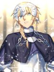 1boy armor blonde_hair blue_eyes braid chains fate/apocrypha fate_(series) genderswap genderswap_(ftm) headpiece looking_at_viewer male male_focus ruler_(fate/apocrypha) seseragi_azuma short_hair single_braid solo upper_body