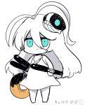 1girl blue_eyes kantai_collection submarine_new_hime torpedo tube white_hair yuzuki_gao