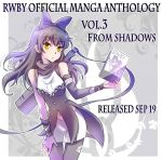 1girl black_hair blake_belladonna bow comic commentary_request ein_lee english gambol_shroud hair_bow iesupa navel pantyhose promotions rwby yellow_eyes