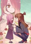 3girls child dual_persona kagari_atsuko little_witch_academia multiple_girls sou_(tuhut) sucy_manbavaran younger