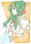 1girl armor breastplate brown_eyes crown elincia_ridell_crimea fire_emblem fire_emblem:_akatsuki_no_megami fire_emblem:_souen_no_kiseki green_hair kizuki_miki pauldrons smile solo