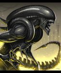 alien alien_(movie) claws gia glowing no_humans open_mouth tail teeth xenomorph