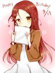 brown_eyes dress long_hair love_live! love_live!_sunshine!! maroon_hair sakurauchi_riko