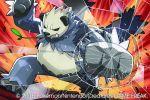 2015 official_art pangoro pokemon pokemon_(creature) pokemon_(game) pokemon_trading_card_game saitou_naoki solo trading_card watermark
